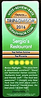 Awards: Trip Advisor 2016 Top Rated Italian Cuisine and Top Pizzeria